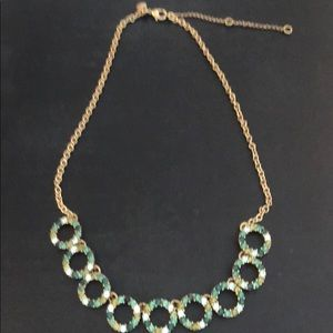 JCrew green jewel necklace